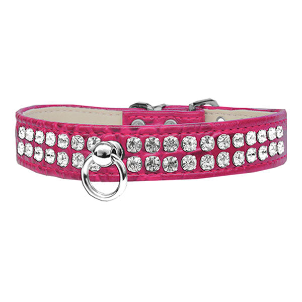 Designer dog collar in the color bright pink