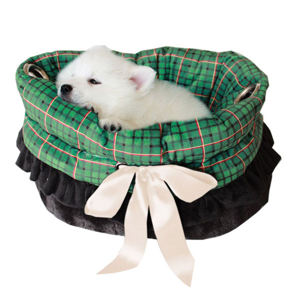 This is a pet bed, dog bed, carrier bag and Car Seat All-in-One