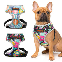 Load image into Gallery viewer, Colorful print Nylon Dog Harness