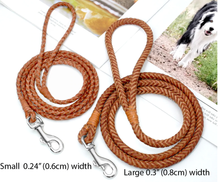 Load image into Gallery viewer, Braided leather 4ft (120cm) Dog Leash