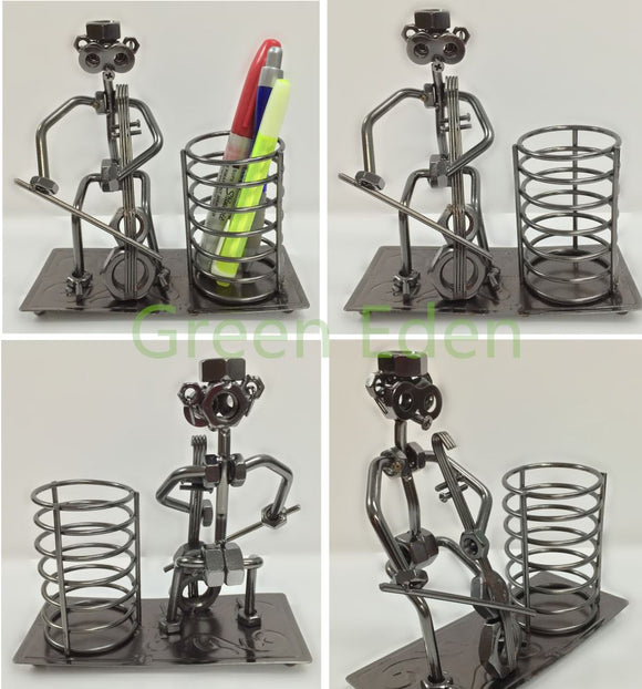 iron-craft-metal-musician-sculpture-pen-holder-electrical-cycle-cycling-accessories-bike-part-home-accessories-house-hold-products-dog-products-pet-accessories-baseball-products-home-garden-accessories-electronics-mobile-phone-accessories-kitchen-painting