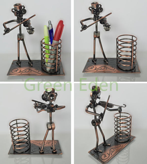 iron-craft-metal-musician-sculpture-pen-holder-electrical-cycle-cycling-accessories-bike-part-home-accessories-house-hold-pet-accessories-baseball-products-home-garden-accessories-electronics-mobile-phone-accessories-kitchen-painting