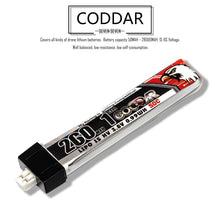 Load image into Gallery viewer, Coddar 250mah 1s 3.8v 50c Lipo Battery with PH2.0 FPV plug for RC Racing Drone - 8 Pack
