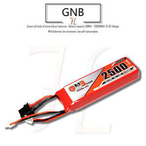 GNB 2500mAh 2s 7.4v LiPo Battery for Taranis X9D 2019 - XT60 & JST-XH