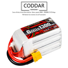 Load image into Gallery viewer, 2 Pack - Coddar 1300mAh 6s 22.2v 110c Lipo Battery with XT60 FPV Plug for RC Racing Drone