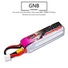 Load image into Gallery viewer, 2 Pack - GNB 520mAh 3s 11.4v 80c Lipo Battery with XT30 FPV Plug for RC Racing Drone