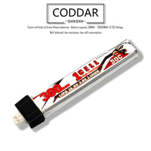 Load image into Gallery viewer, 8 Pack - Coddar 300mAh 1s 3.8v 50c Lipo Battery with PH2.0 FPV plug for RC Racing Drone