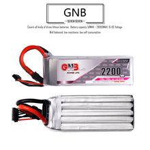 Load image into Gallery viewer, GNB 2200mAh 5s 18.5v 120c Lipo Battery with XT60  FPV plug for RC Racing Drone