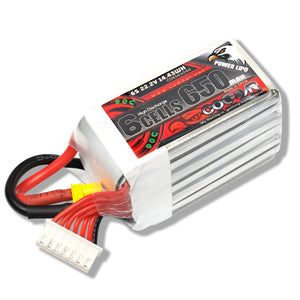Coddar 650mAh 6s 22.2v 90c Lipo Battery with XT30  FPV plug for RC Racing Drone
