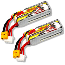 Load image into Gallery viewer, 2 pack - Coddar 300mAh 3s 11.4v 90c Lipo Battery with XT30 FPV plug for RC Racing Drone