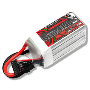 Coddar 1150mAh 6s 22.2v 130c Lipo Battery with XT60  FPV plug for RC Racing Drone