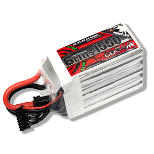 Coddar 1550mAh 6s 22.2v 130c Lipo Battery with XT60  FPV plug for RC Racing Drone