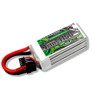 Coddar 1150mAh 4s 14.8v 130c Lipo Battery with XT60  FPV plug for RC Racing Drone