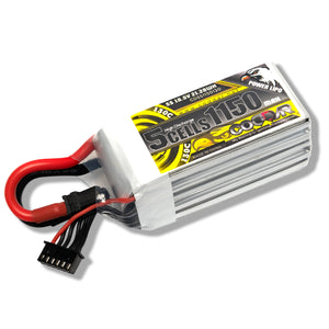 Coddar 1150mAh 5s 18.5v 130c Lipo Battery with XT60  FPV plug for RC Racing Drone