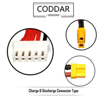 Load image into Gallery viewer, 2 Pack - Coddar 550mAh 4s 14.8v 90c Lipo Battery with XT30 FPV plug for RC Racing Drone