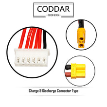 Load image into Gallery viewer, Coddar 850mAh 5s 18.5v 90c Lipo Battery with XT30 FPV plug for RC Racing Drone