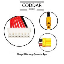 Load image into Gallery viewer, 2 Pack - Coddar 750mAh 6s 14.8v 90c Lipo Battery with XT30  FPV plug for RC Racing Drone