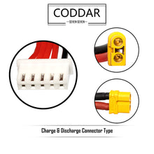 Load image into Gallery viewer, Coddar 1300mAh 4s 14.8v 110c Lipo Battery with XT60 FPV Plug for RC Racing Drone - 2 Pack