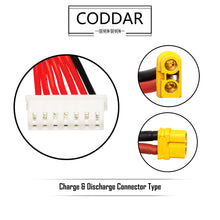 Load image into Gallery viewer, Coddar 1500mAh 6s 22.2v 110c Lipo Battery with XT60 FPV Plug for RC Racing Drone - 2 Pack