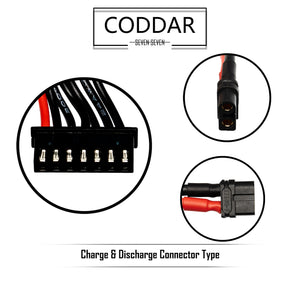 Coddar 2200mAh 6s 22.2v 120c Lipo Battery with XT60 FPV plug for RC Racing Drone