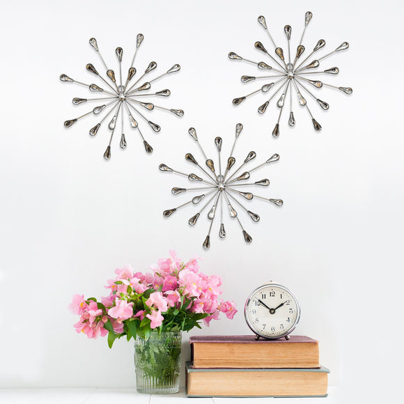 3Pcs Acrylic Burst Wall Decor