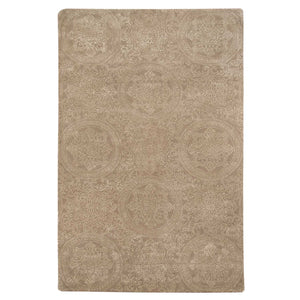Beige Wool Area Rug