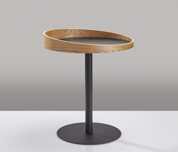 Sleek Black End Table