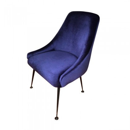 Cobalt Blue And Matte Black Chair