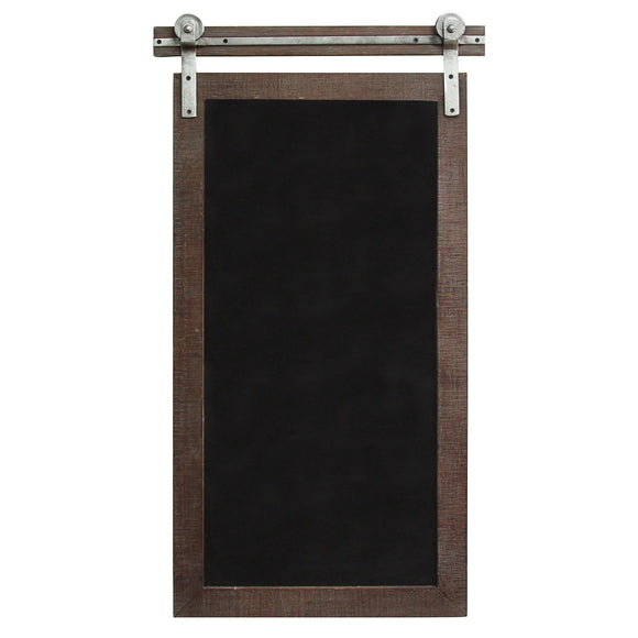 Dark Natural Wood Farmhouse Chalkboard Wall Decor