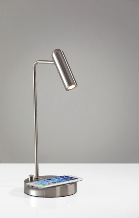 Brushed Steel Metal LED Desk Lamp