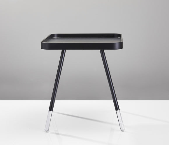 Clear Foot Black End Table