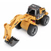 HUINA Toys 1530 1:18 2.4GHz 6CH RC Excavator Coaste Alloy Bucket - RTR - DEEP Yellow