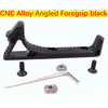 CNC Alloy Angled Foregrip Black or Red Gel Blaster Part