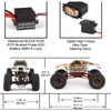 AU Store 2.4GHZ 1/10 RC 4WD 4WS Off-Road Brushed Rock Crawler Mountain Lion