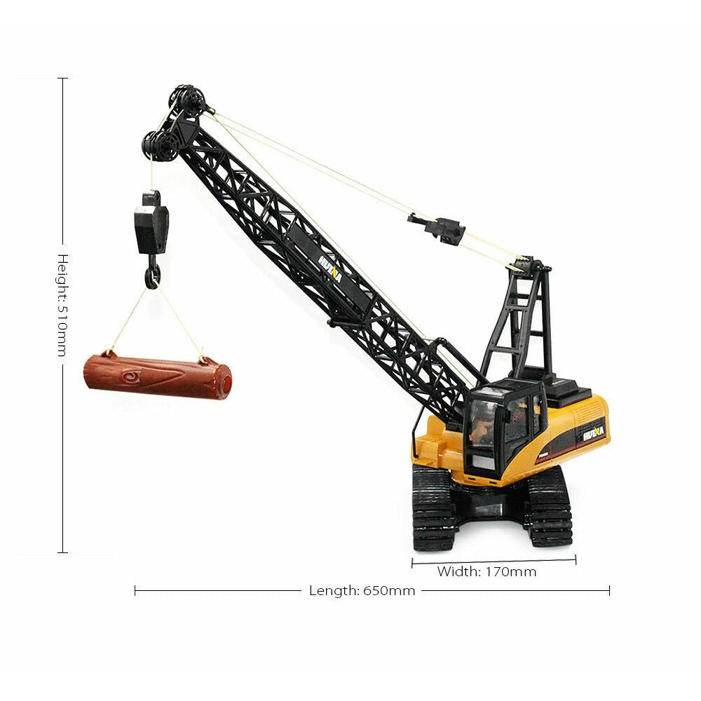 AU Stock HUINA 1572 15-Channel 2.4G 1:14 RC Alloy Crane Truck Auto Demonstration