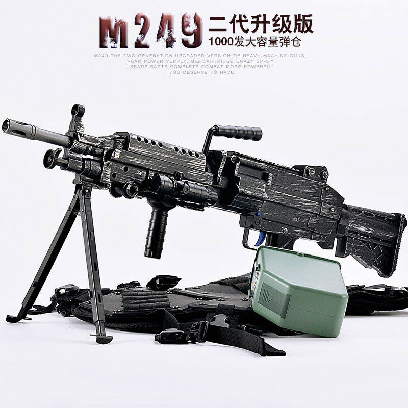 AU STORE ZH M249 SAW V2 NYLON GEAR GEN 8 GEL BLASTER AUTO MAG-FED ADULT SIZE