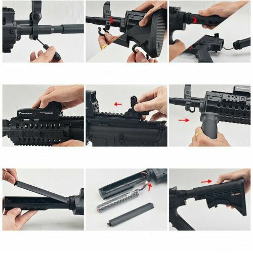 Nylon SKD M4SS Sniper Rifle Gel Ball Toy Blaster Adult Size AU Store