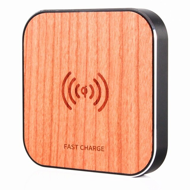 Wireless Bamboo Fast Charging Pad