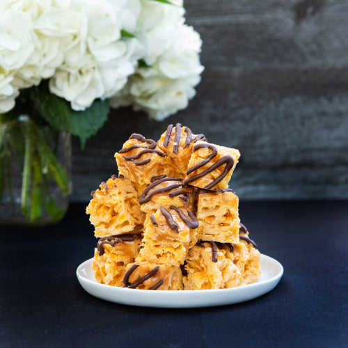 Salted Caramel Dark Chocolate Twirl Bites