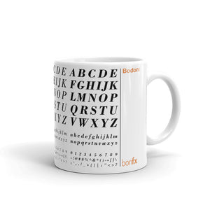 Bodoni 11 oz. White Gloss Mug