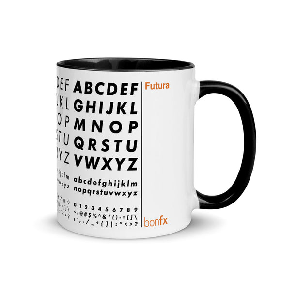 Futura 11 oz White Gloss Mug / Black Inside