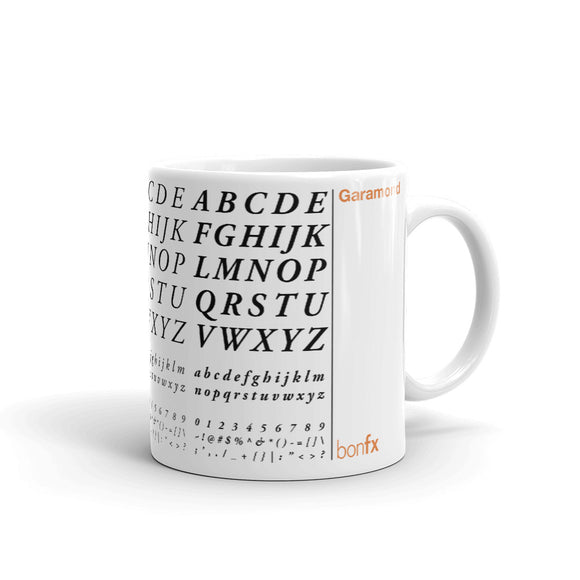 Garamond 11 oz. White Gloss Mug