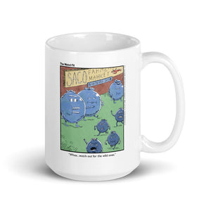 Maine Mug - Wild Blueberries Cartoon - 15 oz. White Gloss