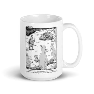 "Maine Mug - Birds ""Ah-yuh"" - 15 oz White Gloss"