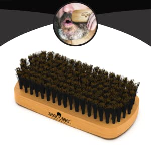 Beard Brush, Comb, & Scissors Grooming Kit for Men's Care, Perfect to Distribute Balm or Oil for Growth & Styling, Adds Shine & Softness