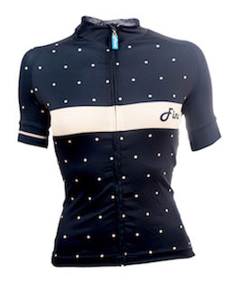 Women's Blue Polka Signature Fit