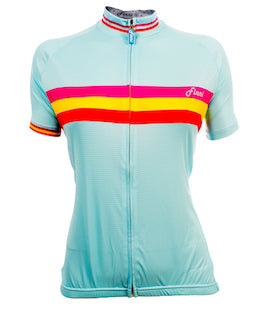 Women's Vintage Sky Blue 3 Stripe Top