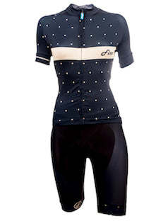 Women's Blue Polka cycling pull ups