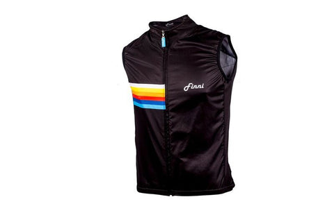 Retro Race Black Gilet