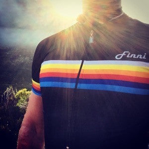 Black retro racing jersey